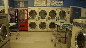 Laundromat Vending Machines Stunning Washers Dryers And Vending Machines Sit In A Laundromat Stock