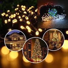 1 of 12free 50 100 200 led solar power fairy garden lights string outdoor party wedding xmas