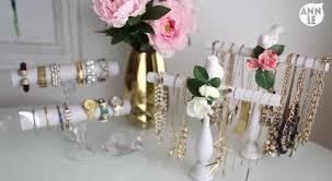 diy easy necklace bracelet holder room decor by ann le hildur k o art blog