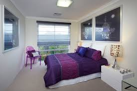 purple modern bedroom designs. Modern Bedroom Decor Idea With Purple Bedding And Pillows A Corner Chair Glass Designs V