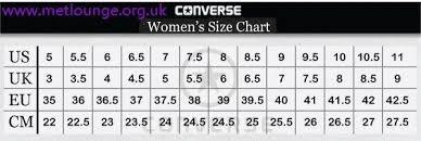 Converse Conversion Chart Converse Conversion Size Chart