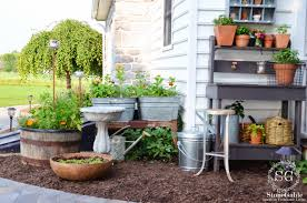 Garden To Kitchen Summer Potting Bench And Kitchen Garden Stonegable