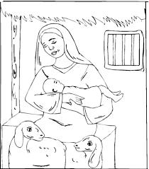 Disegno Di Pecorella Vicino Gesù Bambino Da Colorare Disegni Da