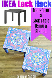 Budget Stencils Ikea Lack Table Makeover Using A Stencil Delicious And Diy