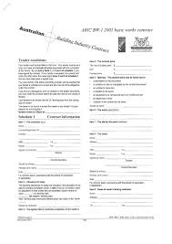 Residential Construction Contract Form Building Contract Template