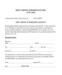 Employee Direct Deposit Authorization Agreement Paycheck Template Blank Pay Stub Inspirational Direct