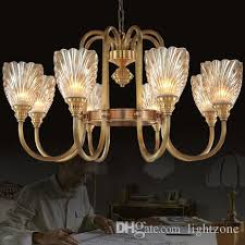 chandeliers high class american european style copper chandelier lamp living room bedroom hotel study room villa pendant lighting birdcage chandelier