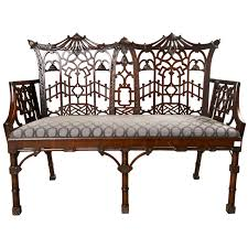 Chippendale Furniture Antique Chinese Chippendale Settee Canape Canapes And Settees