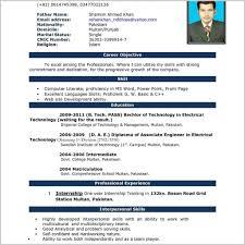 Resume Format Word Document Free Download Job Resume Format Word Document 50513 Resume In English Download Cv