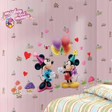 zs autocollant mickey mouse minnie souris wall sticker home decor