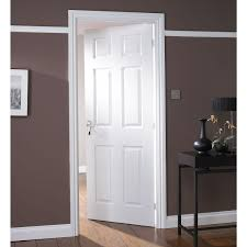 white wood door.  White Well Known Ideas Internal Moulded Woodgrain Vertical Panel Fire Door By VT61 Throughout White Wood G