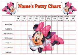 Printable Potty Training Chart Minnie Mouse Daddilifeforce Potty Training Potty Training Girls