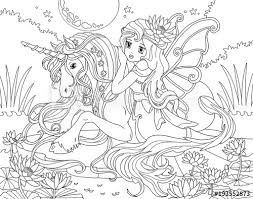 Cute unicorn coloring pages for kids: Coloring Pages Princess Unicorn Coloring And Drawing