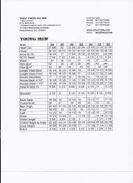 Measurement Charts Wolf Form Co Inc Usa Dress Forms Nj