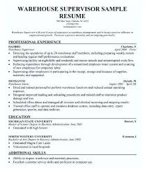 General Resume Objective Examples Warehouse