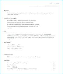 Resume Of A Student With No Experience Related Post Sample Nursing ...