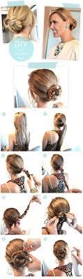 diy chic braided bun hair tutorial easy updos for long hair