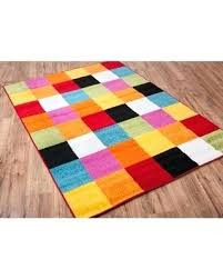 multi colored rugs fun bright fine decoration amazing deal on woven geometric square red orange coloured indoor outdoor rug