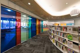 library lighting. BASYS LED Downlights From Zumtobel Were Used As An Unobtrusive, Second-level Lighting Solution To Produce The Desired Effect. © Library S
