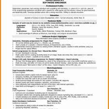 Sample Resume Of Experienced Software Developer New Year Experience