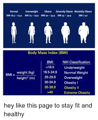 Normal Overweight Obese Severely Obese Morbidly Obese Bmi