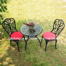 new patio furniture modern design cast aluminum bistro set in antique copper