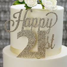 21st Birthday Cake Toppers And Decorations