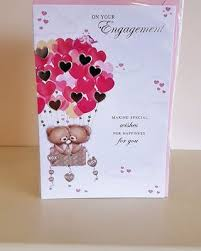 On Your Engagement Teddy Hearts Card Remember That Card
