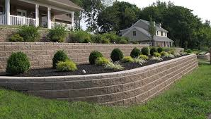 Backyard Retaining Wall Designs Impressive Fix A Sloping Front Or Backyard By Adding Retaining Walls
