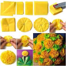 pineapple tissue paper diy how to easiest flower ball