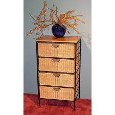 wicker chest of drawers. FourDrawer Steel And Wicker Chest Of Drawers