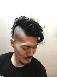 メンズ奇抜系パーマスタイル 田中トシオヘアサロン髪ing