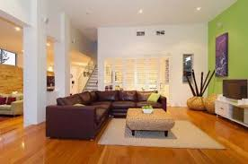 awesome interior decorating small living room design ideas featuring brown l shape leather using stainless steel interior design living room ideas contemporary photo