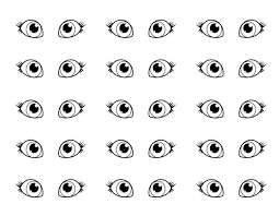 Small Picture Pair of Eyes Coloring Page Coloring Sun