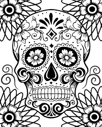 Small Picture Wonderfull Design Day Of The Dead Coloring Pages Free Printable