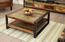 sditch square coffee table reclaimed wood