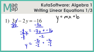 kuta algebra 1 writing linear equations part 1