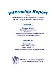 Internship exit report