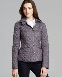 lyst burberry brit kencott quilted jacket in gray burberry jacket