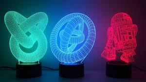3d Illusion Novelty Led Lamps Youtube