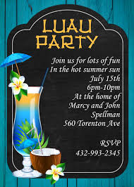 Luau Party Invitations Tropical Beach Party Winter 2019