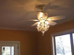 image of luxury crystal chandelier ceiling fan combo