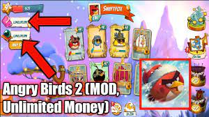 Angry Birds 2 (MOD, Unlimited Money). - YouTube