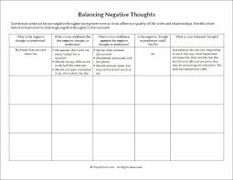 Balancing Negative Thoughts Worksheet | PsychPoint