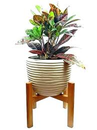 large flower stands wooden indoor planter large plant stands stand mid century modern planter wooden tall large flower stands height large and tall