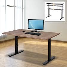 adjustable standing desk converter. Brilliant Converter Ergonomic Electric HeightAdjustable Standing Desk Converter Frame  Workstation To Adjustable