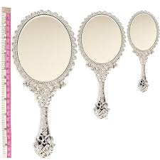 antique hand mirror. cute princess girls gift vintage style mini vanity hand held mirror silver antique g