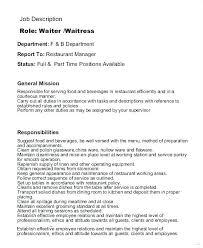 Head Waiter Jobs Head Waitress Resume Waitress Job Description