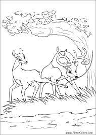 Disegni Per Dipingere Colour Bambi 2 Print Design 033