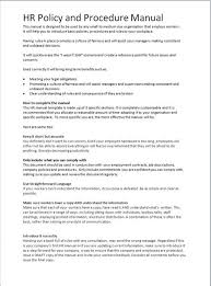 Unique Human Resources Policy Template Festooning - Resume Ideas ...